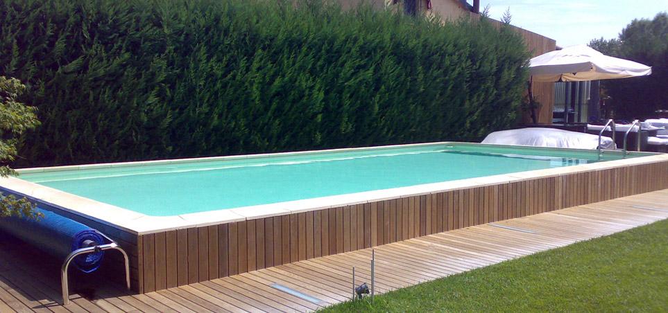 Impec piscine e sali piscine semi interrate impec for Luci per piscina fuori terra